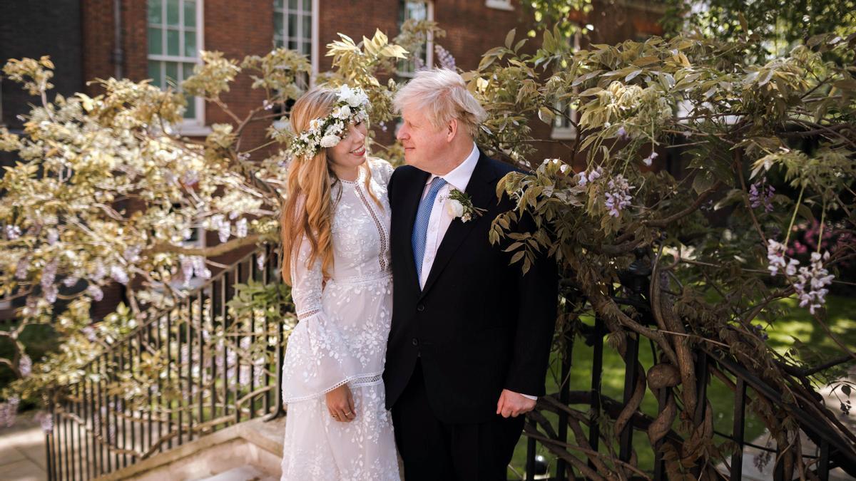 Una imagen de la boda del primer ministro británico, Boris Johnson, y Carrie Symonds.