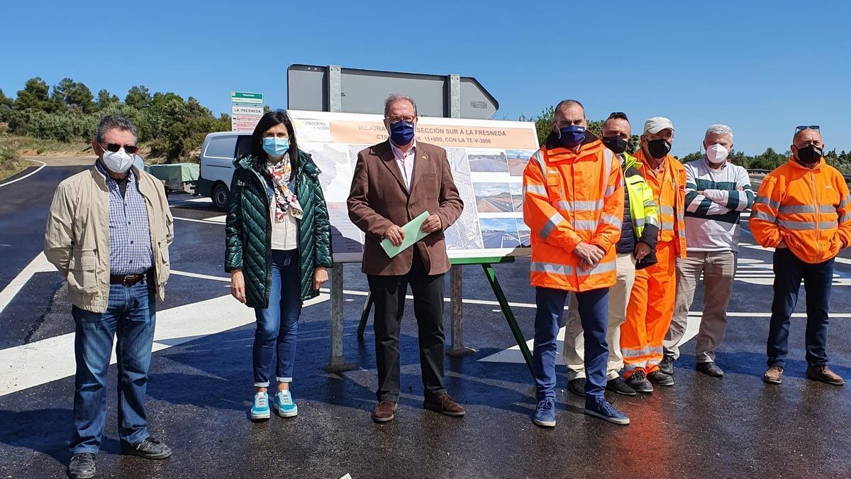 El Gobierno de Aragón mejorar los accesos al municipio turolense de La Fresneda.