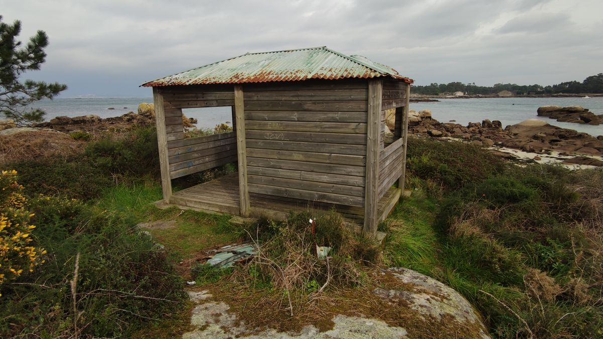 El observatorio de aves del parque de Carreirón.