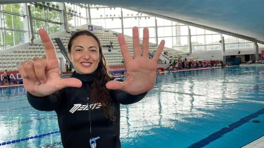 Isabel Sánchez-Arán logra el récord nacional de apnea estática