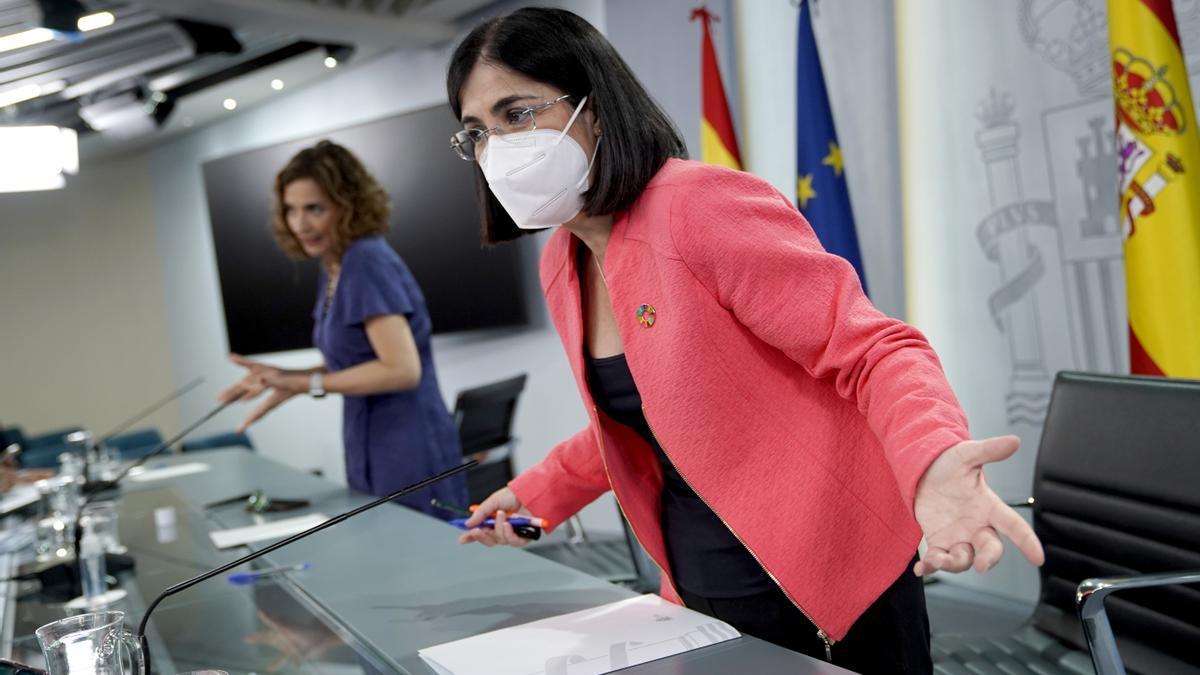 La ministra de Sanidad, Carlina Darias.