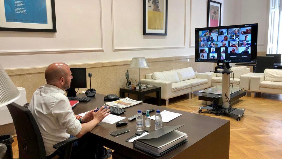 Reunión virtual con Gaspar.