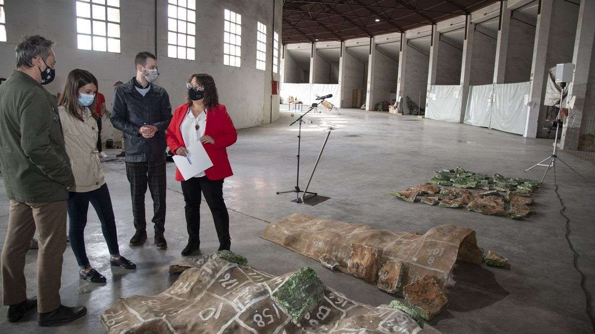 La Diputación estudia dar salida al mural de Ripollés abandonado durante 21 años