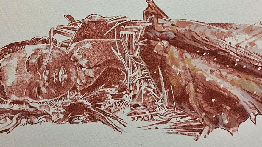 Encarguen a un asturianu ilustrar l'enterramientu humanu más antiguu d'África