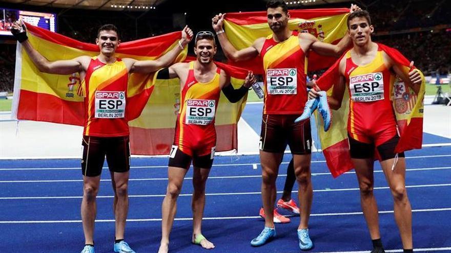 Hortelano cede en la recta y España pasa del oro al bronce en 4x400