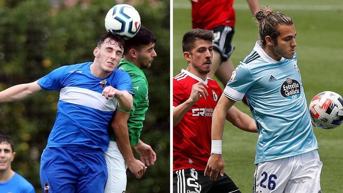 Dos lances en partidos del Gran Peña y el Celta B