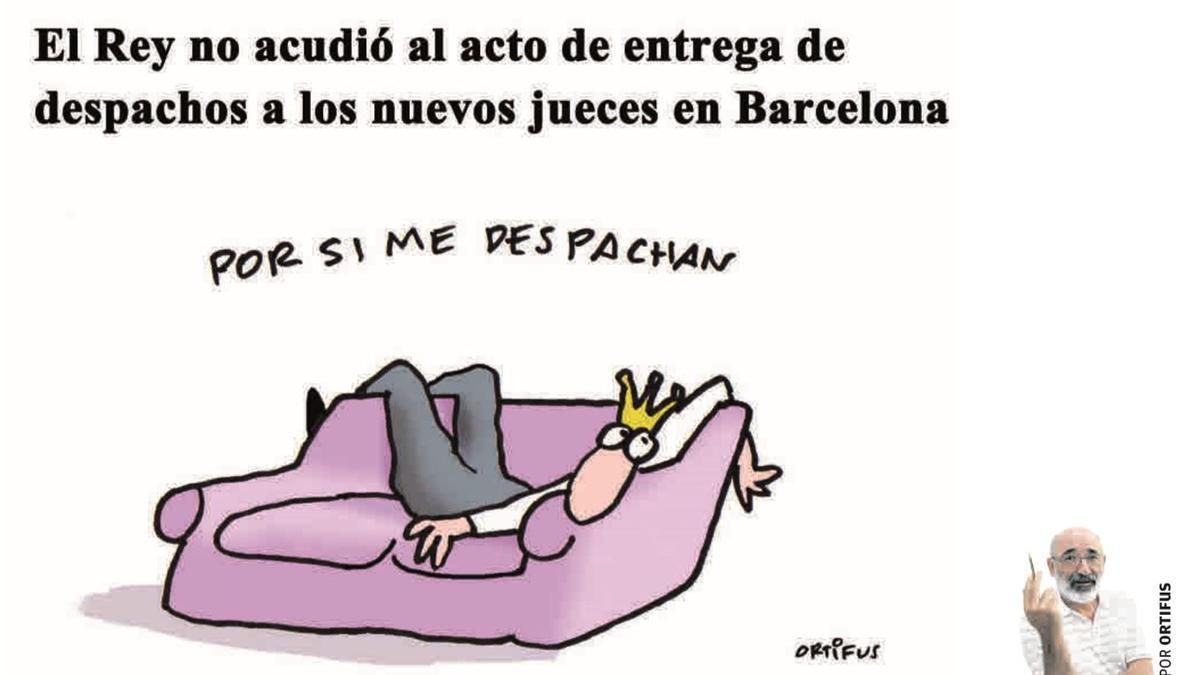 El Rey no acudió al acto de entrega de despachos a los nuevos jueves en Barcelona