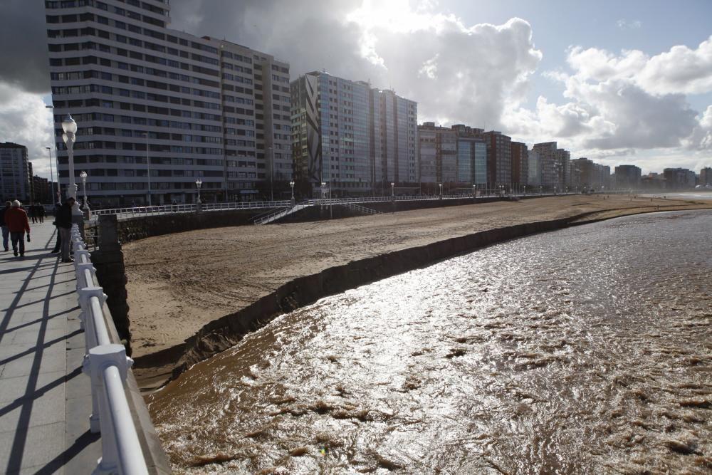 Temporal en Gijón
