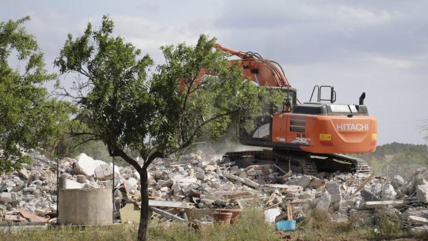 Großes Polizeiaufgebot bei Abriss eines Wohnhauses auf Mallorca