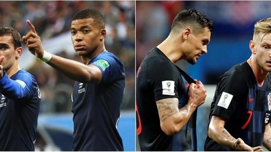 Francia-Croacia, una final inédita