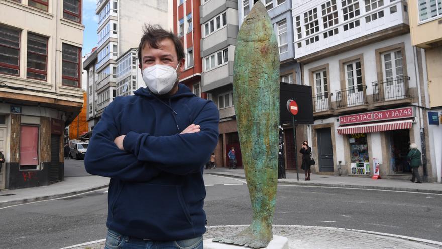 Una sardina de 350 kilos en el Entroido pandémico