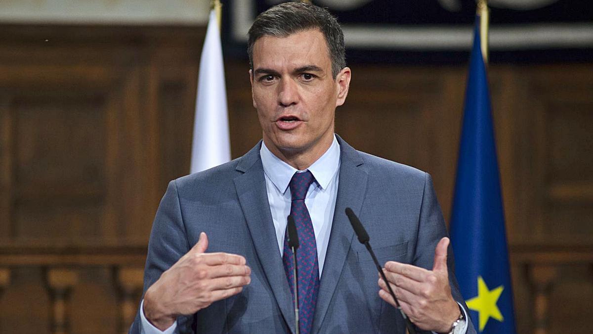 Sánchez es va mostrar molest amb el comunicat del Govern marroquí.   EUROPA PRESS