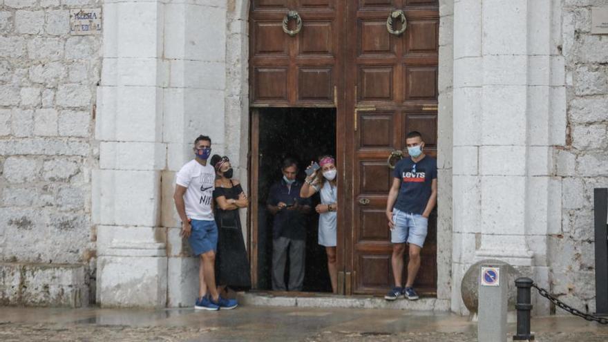 Domingo con fuertes lluvias en Ibiza
