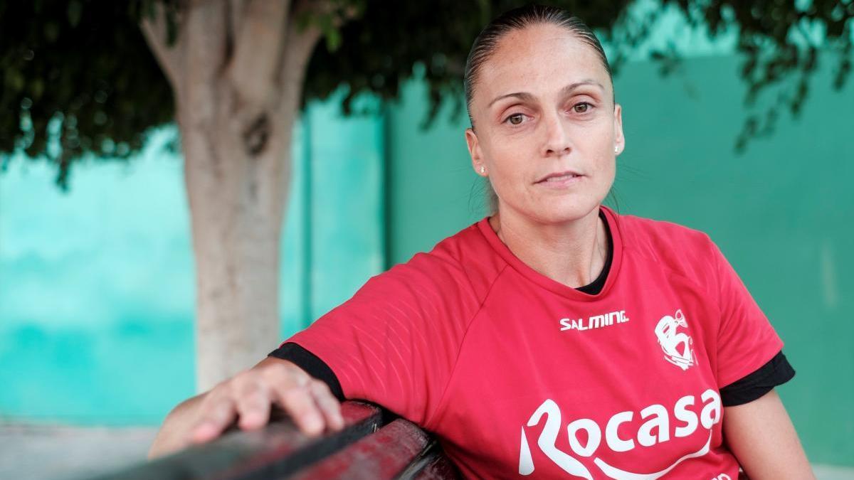 La guardameta valenciana Silvia Navarro, en una entrevista reciente.