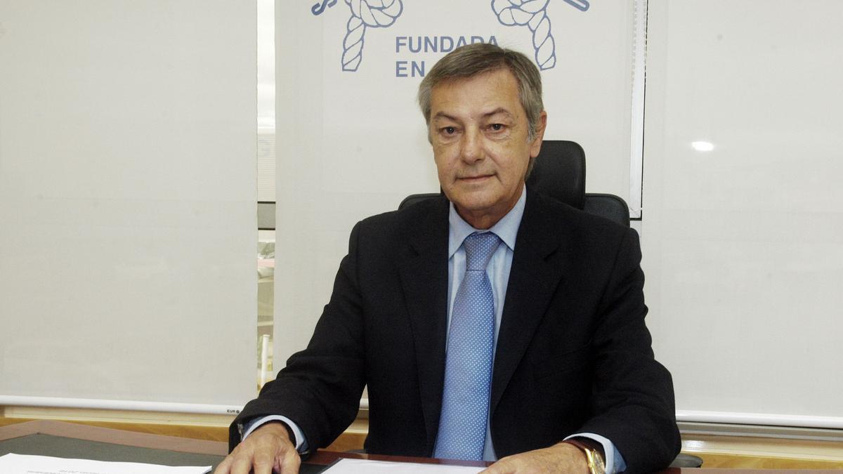 Álvaro Martínez Riva, presidente de la Sociedad de Seguros Mutuos Marítimos de Vigo, que celebra 125 años de travesía al lado de los armadores.