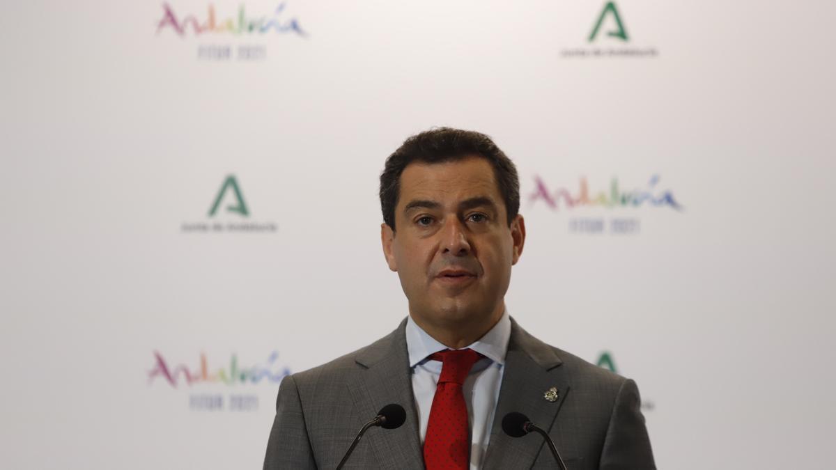 El presidente de la Junta y líder del PP andaluz, Juanma Moreno.