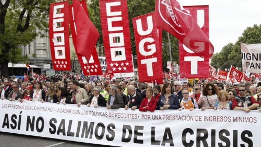 Miles de personas claman en Madrid contra la precariedad laboral