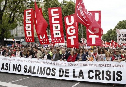 MANIFESTACI?N EN MADRID DEL 1 DE MAYO CONVOCADA POR CCOO Y UGT