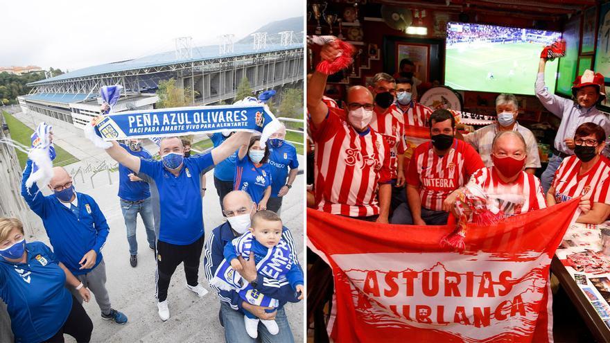"""Los aficionados, antes del partido de Asturias: """"Nada mejor que un derbi como los de antes"""""""