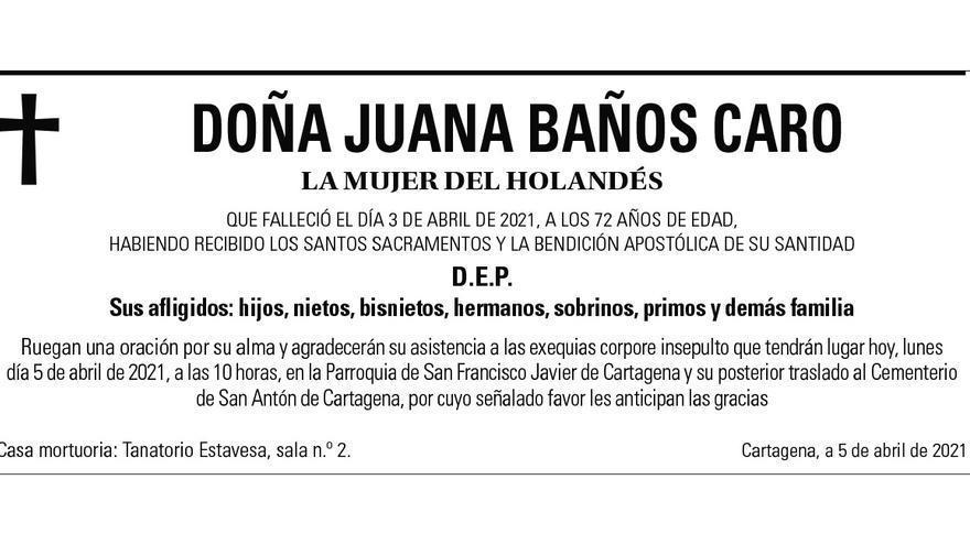 Dª Juana Baños Caro