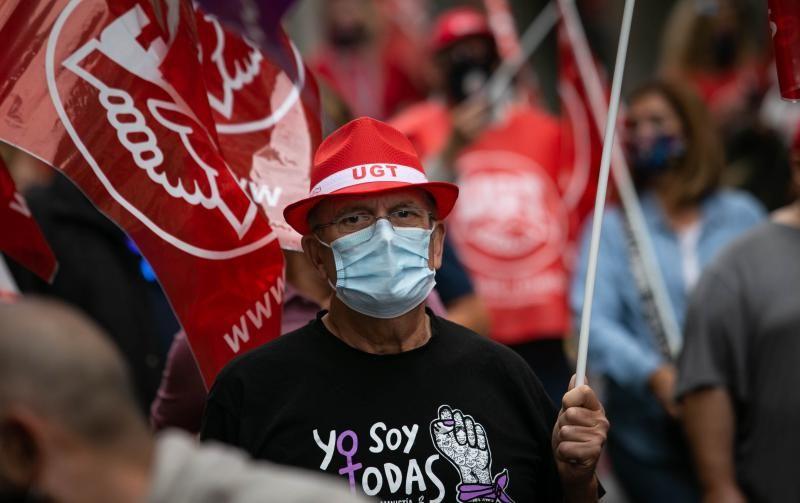 Manifestación del Primero de Mayo, Día internacional del trabajador, en Santa Cruz de Tenerife