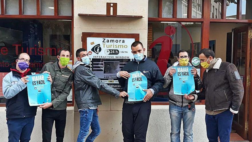 Usuarios de Asprosub facilitan material para un turismo accesible en Zamora