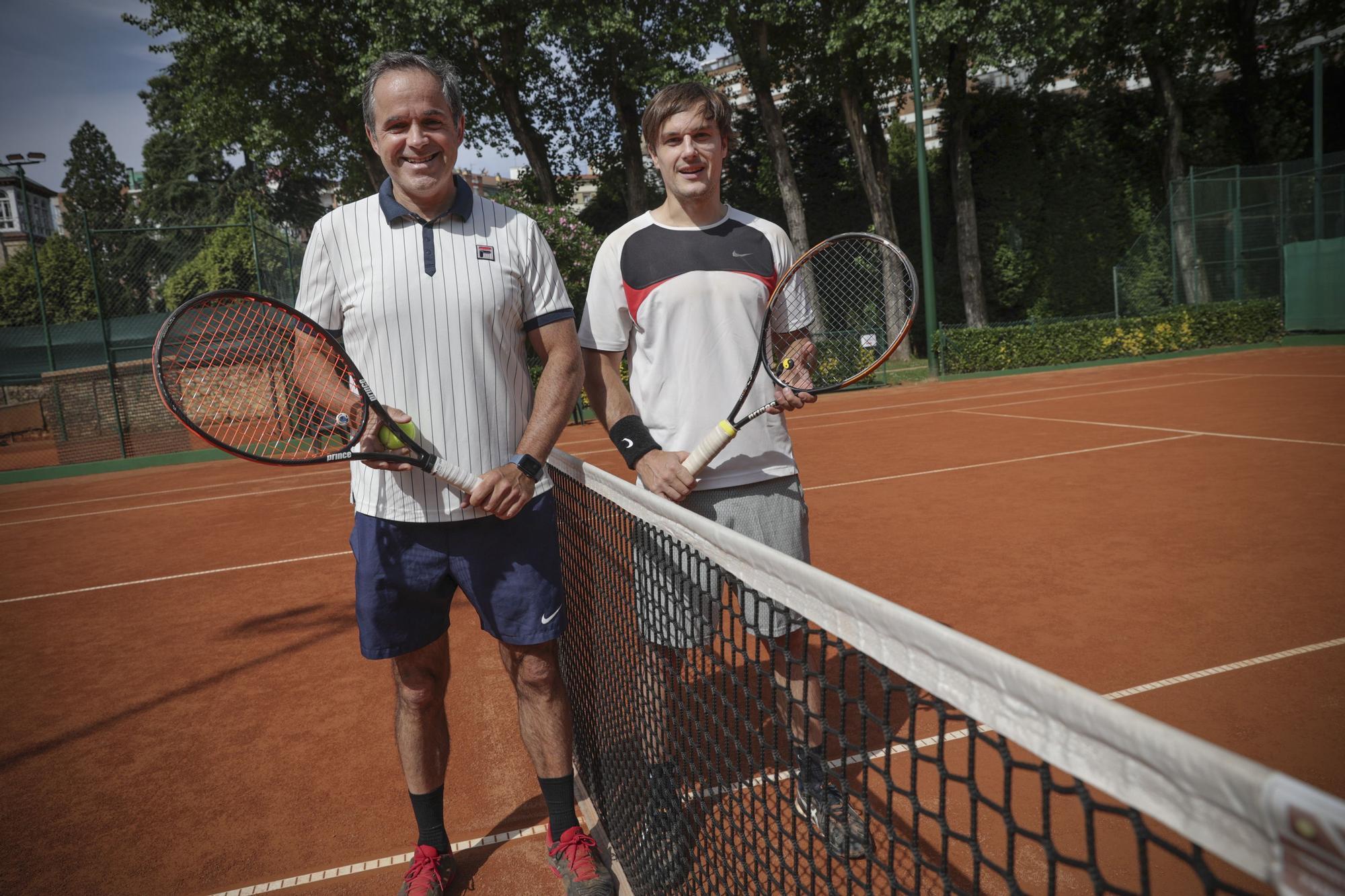 El día después de la victoria de Carreño, en imágenes: Club de Tenis de Oviedo y pistas del Parque del Oeste