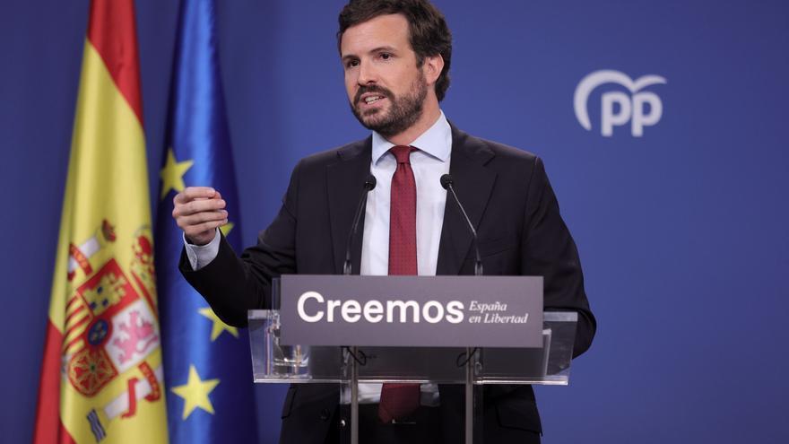 """Casado celebra el alza en las encuestas del PP: """"El cambio sigue avanzando"""""""