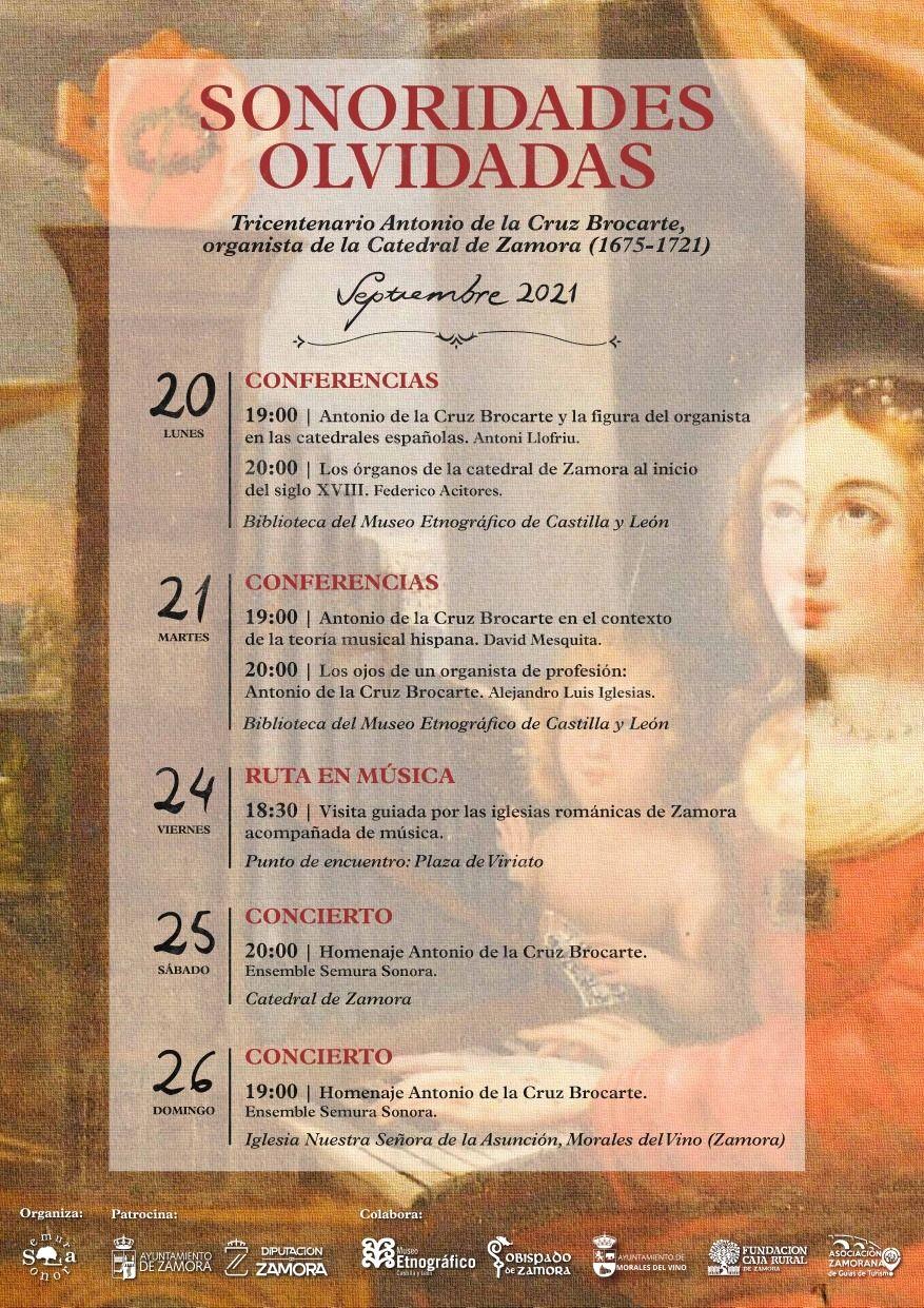Jornadas 'Sonoridades Olvidadas' del Ensemble Semura Sonora en honor a Antonio de la Cruz Brocarte.