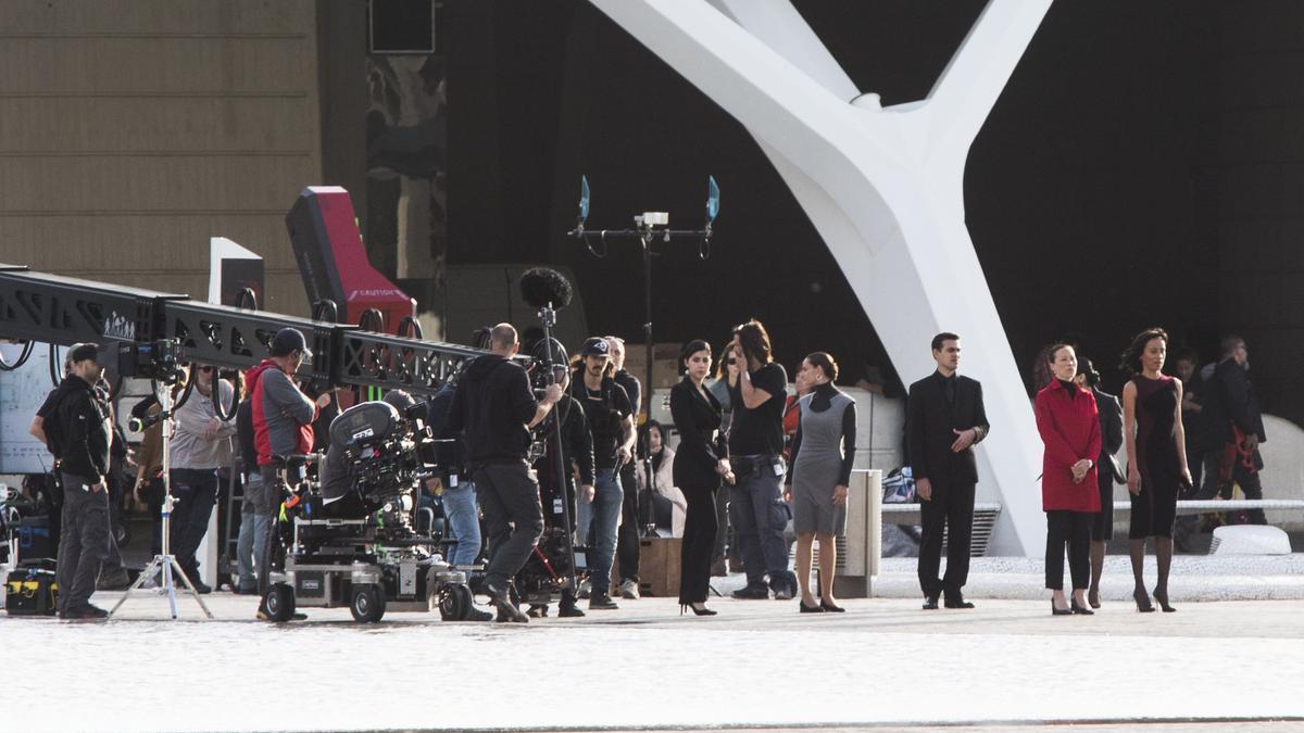 El rodaje de la serie 'Westworld' de HBO en València.