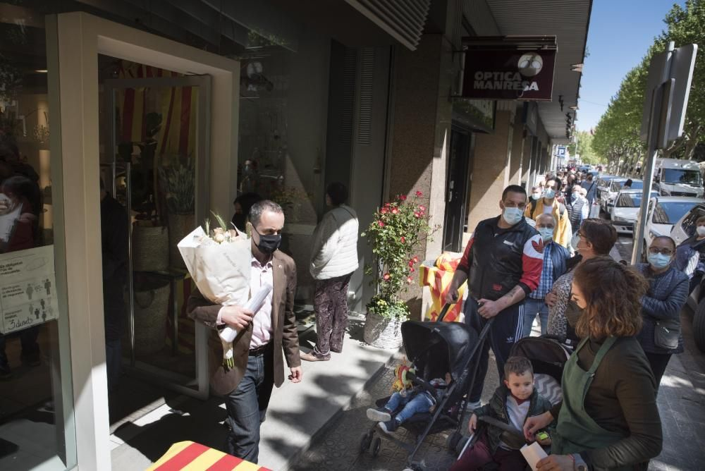 Sant Jordi 2021 a Manresa