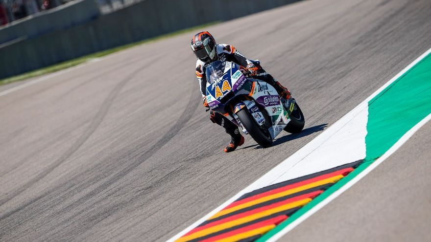 Aron Canet, podio en Moto2