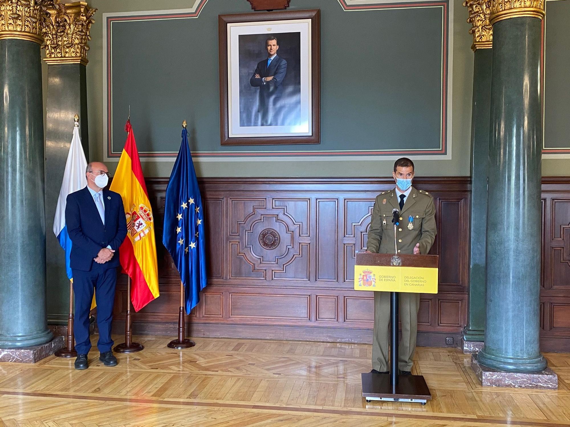 La UME y Protección Civil de Canarias reciben las medallas del Mérito Civil
