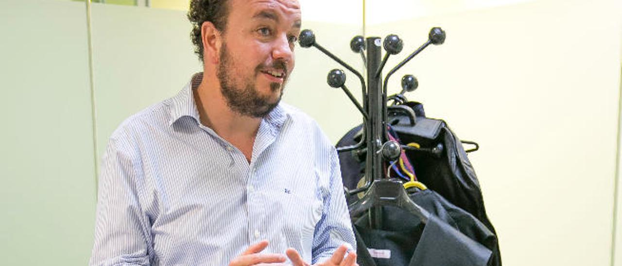 El fiscal Tomás Fernández de Paiz, en su despacho.