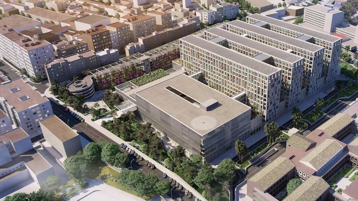 Proyecto del tercer hospital de Málaga.