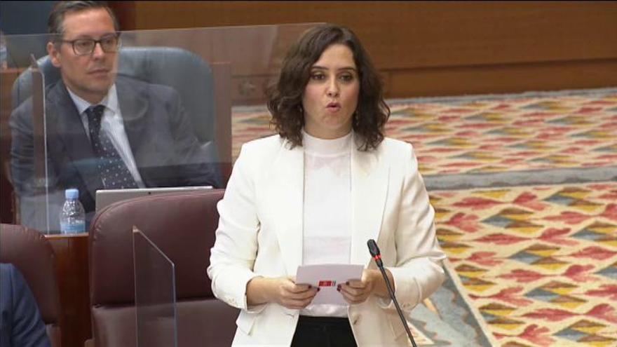 """Ayuso: """"El Gobierno cerró Madrid a punta de pistola"""""""