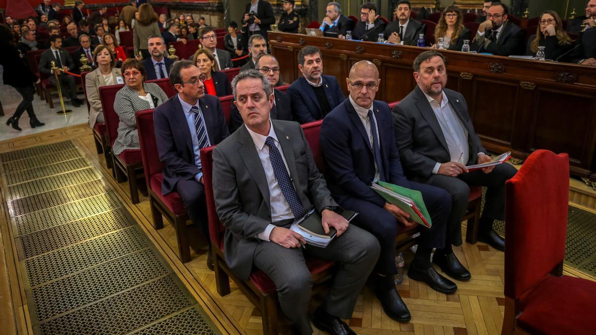 Líderes independentistas en el juicio del procés.