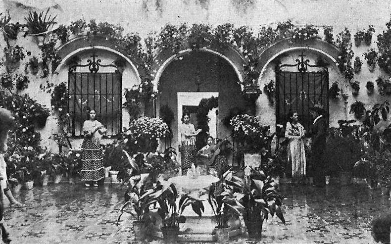 Casa patio de la calle Conde de los Arenales en 1935