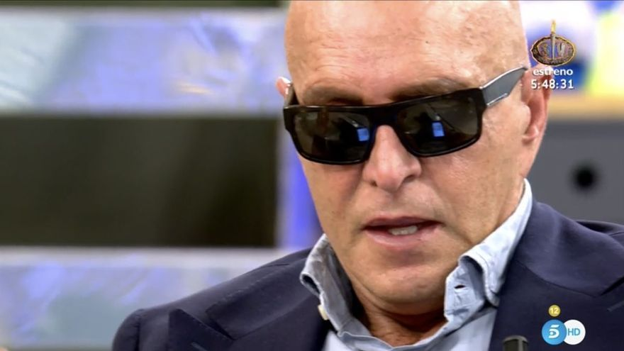 Kiko Matamoros vuelve a aparecer con gafas de sol en 'Sálvame' por un contratiempo de salud