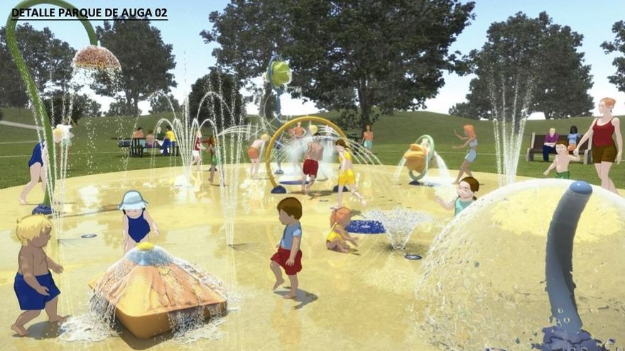 Los juegos infantiles de agua llegan a Pontevedra