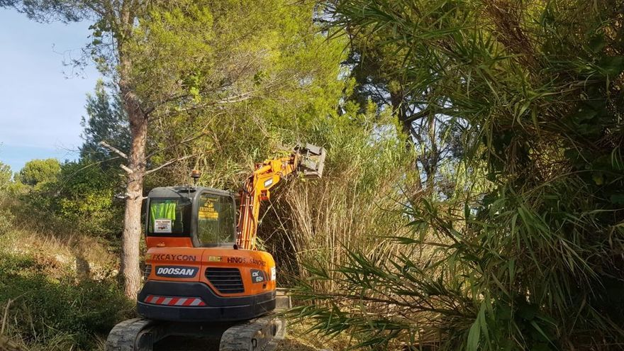 Benidorm acomete la limpieza de los barrancos Barceló y Derramador para minimizar los efectos de posibles lluvias