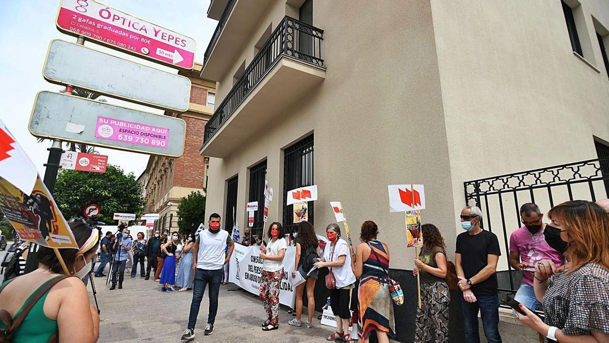Huelga de interinos en la Administración   ISRAEL SÁNCHEZ