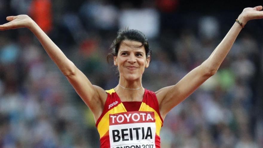 Ruth Beitia gana una medalla olímpica casi siete años después