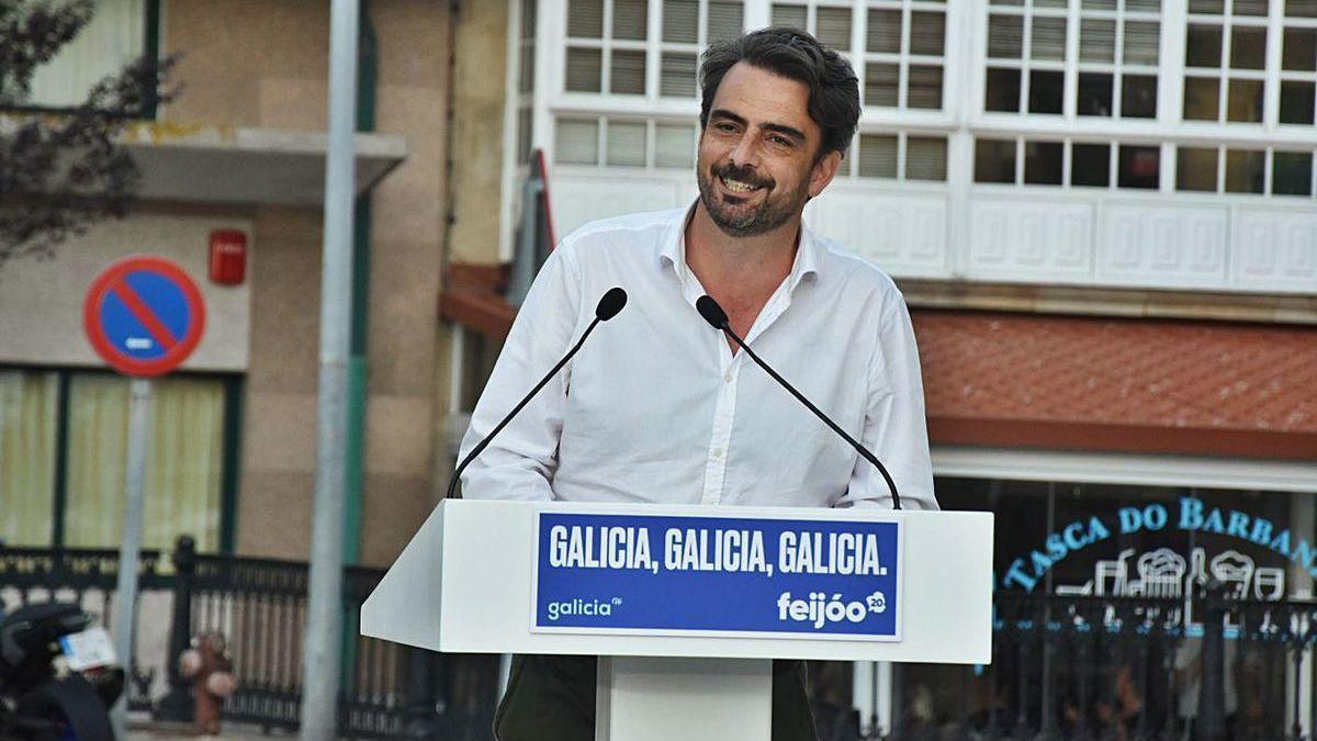 Diego Calvo Pouso, en un acto durante la campaña electoral.