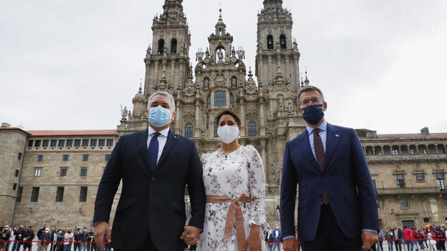 El presidente de Colombia visita Galicia para reforzar la hermandad y buscar alianzas empresariales