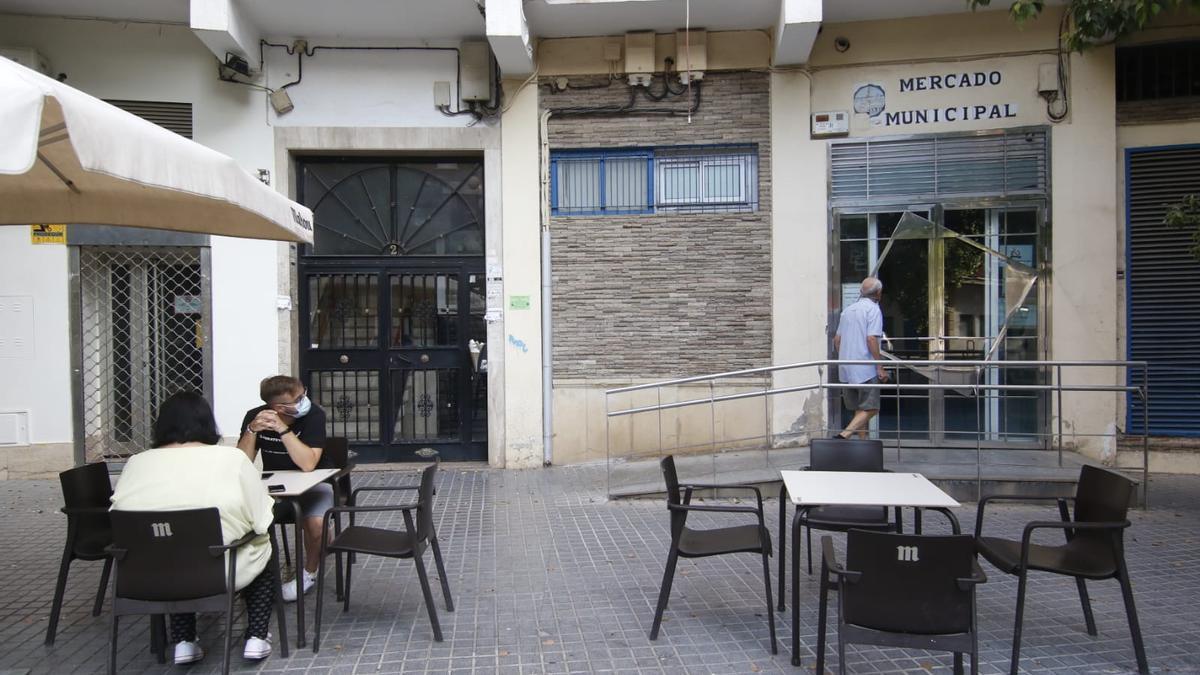 Mercado de Ciudad Jardín cerrado.