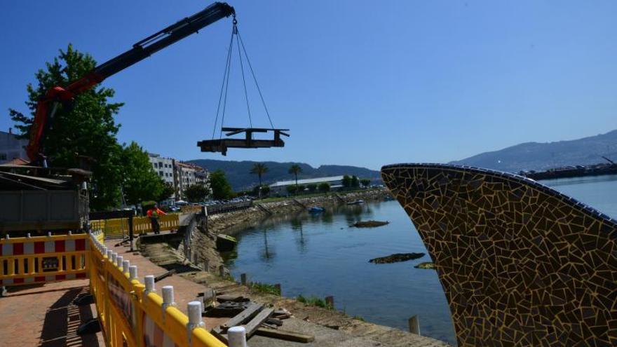 Portos inicia la reconstrucción del paseo de O Con