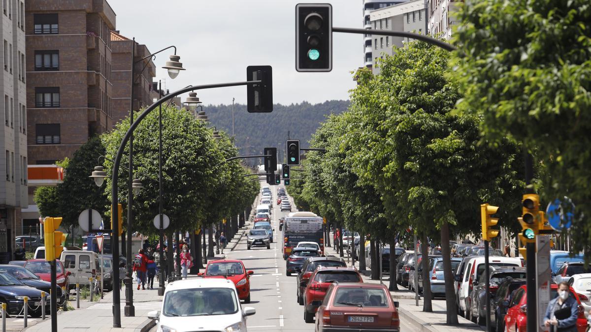 Tráfico en la avenida de la Argentina.