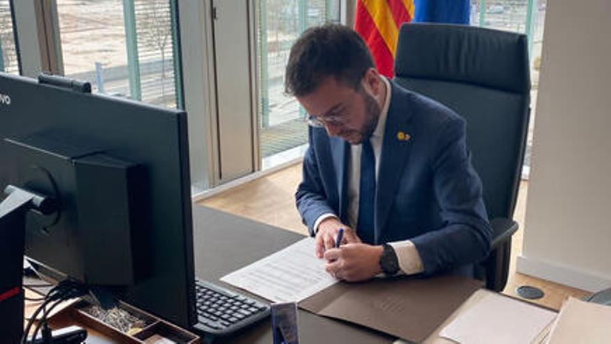 Aragonès convoca la sessió constitutiva del nou Parlament per al divendres 12 de març