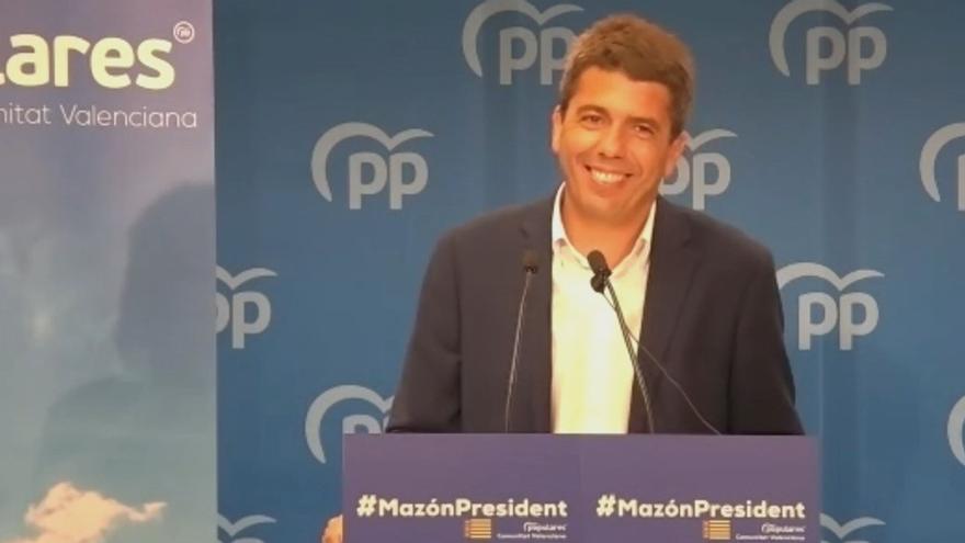 Carlos Mazón comunica oficialmente su candidatura a presidir el PPCV